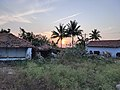 Sunset near houses in rural parts of Coimbatore District.jpg