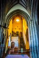 Sunshine through the side aisle in Holy Cross Abbey 19th April 2016.jpg
