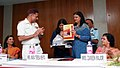 Surg Vice Admiral Yogendra Singh, DGAFMS released a set of three booklets on HIVAIDS awareness for Armed Forces Wives Welfare Associations, in New Delhi on June 12, 2007.jpg