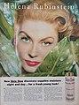 Suzy Parker advertises Helena Rubinstein's new Skin Dew, 1957.jpg