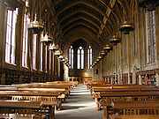 Inside Suzzallo Library, University of Washington campus