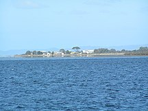 Swan Island--Swan Island from Swan Bay Jetty
