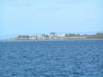 Swan Island (Victoria) - Swan Island, view from Swan Bay Jetty