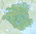 Sweden Södermanland relief location map.png