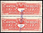Switzerland Fribourg 1908 poster revenue 2 1Fr - L 3 pair.jpg
