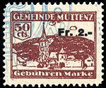 Switzerland Muttenz 1930 revenue 1 2Fr on 50c - 4.jpg
