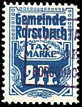 Switzerland Rorschach 1909 revenue 2Fr - 12.jpg