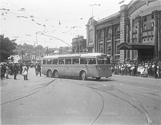 Trolleybuses in Sydney - Image: Sydney trolleybus number 1 1930s