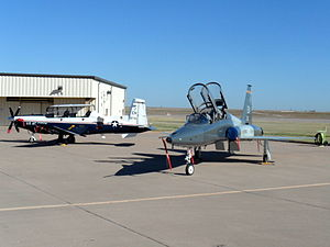 80th Flying Training Wing - T-6A Texan II (left) T-38C Talon (right) of 80th Flying Training Wing