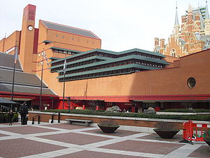 The British Library in London main building