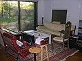 Table corner as instrument yards, Elim Project, Ben Kyle studio, 2008-05-25.jpg