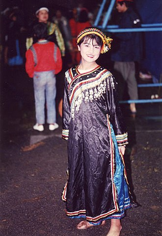 Bunun people - Bunun dancer in traditional aboriginal dress.