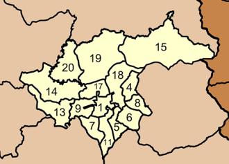 Mueang Trang District - Map of tambon