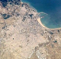 תצלום לווין של העיר