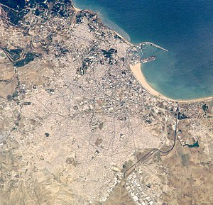 Bay of Tangier - The bay shown in the top right from satellite