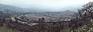Tehachapi Loop - A panoramic view of the Tehachapi Loop looking NW