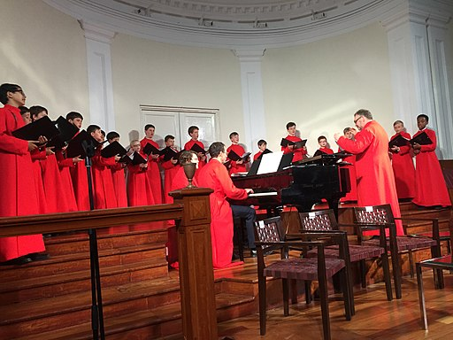 Temple Church Boys' Choir at the Arts House at the Old Parliament, Singapore - 20160720-01