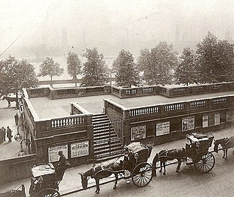 History of the London Underground - District Railway's Temple station in 1899