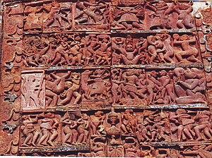 Birbhum district - Terracota design depicting Ramayana war at Jayadev Kenduli