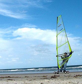 Land windsurfing - Terrasailing on the beach