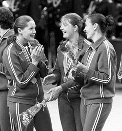 Tetyana Kocherhina, Valentyna Lutayeva, Zinaida Turchyna 1980.jpg