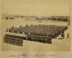 90th Regiment of Foot (Perthshire Volunteers) - The 90th Regiment of Foot on parade in India, 1866