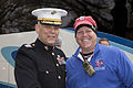 The Assistant Commandant of the Marine Corps, Gen. John M. Paxton, Jr., left, poses for a photo with an attendee during an Honor Flight event at the Marine Corps War Memorial in Arlington, Va., Sept 131112-M-KS211-027.jpg