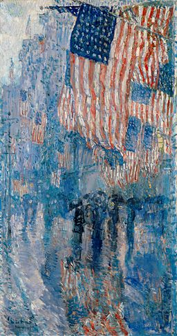 The Avenue in the Rain Frederick Childe Hassam 1917