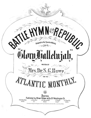 "Battle Hymn of the Republic - Cover of the 1862 sheet music for the ""Battle Hymn of the Republic"""