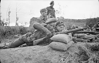 Pattern 1914 Enfield - British sniper training in France 1944