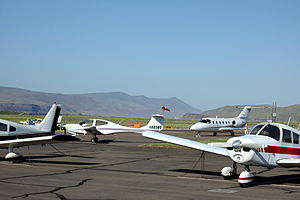 Columbia Gorge Regional Airport - Image: The Dalles Municipal Airport in Dallesport Washington