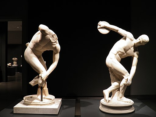 The Discobolus Lancellotti and a fragmentary statue of the Lancellotti type, Roman copies of a 5th century BC Greek original by Myron, Hadrianic period, Palazzo Massimo alle Terme (11398126453)