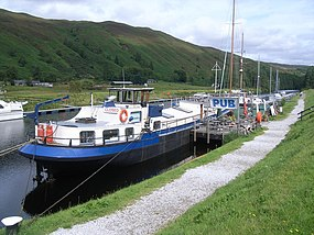 The Eagle, floating pub at Laggan Lock - geograph.org.uk - 1452585.jpg