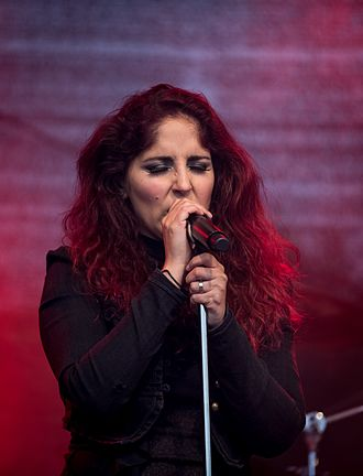 Marcela Bovio - Bovio performing with The Gentle Storm at Wacken Open Air 2015.