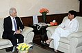 The German Minister for Transport, Building & Urban Development, Dr. Peter Ramsauer meeting the Union Minister for Civil Aviation, Shri Ajit Singh, in New Delhi on April 10, 2012.jpg