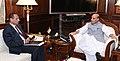 The Governor of Andhra Pradesh and Telangana, Shri E.S.L. Narasimhan calling on the Union Home Minister, Shri Rajnath Singh, in New Delhi on July 25, 2016.jpg