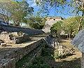 The Grand Pyramid) and Palacio del Gobernador (Governor's Palace), Zona Arqueológica de Uxmal, Yucatan, Mexico.jpg