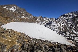Gosaikunda - Gosaikunda Lake during winter season