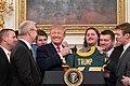 The North Dakota State Bison Visit the White House (47230435032).jpg