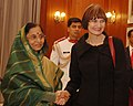 The President, Smt. Pratibha Devisingh Patil meeting with the President of the Swiss Confederation, Ms. Micheline Calmy-Rey in New Delhi on November 07, 2007.jpg