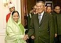 The Prime Minister of the Kingdom of Cambodia, Mr. Samdech Hun Sen called on the President, Smt. Pratibha Devisingh Patil, in New Delhi on December 08, 2007.jpg