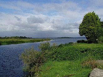 Achaidh Leithdeircc - Upper River Bann enters lough Neagh at the northern end of Glen Righe