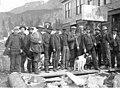 The Soapy Smith Gang standing outside a restaurant, Skagway, Alaska, circa 1897 (AL+CA 478).jpg
