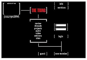 The Thing (art project) - The Thing website (circa 1998)