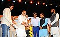The Union Home Minister, Shri Rajnath Singh lighting the lamp to inaugurate the Curtain Raiser event 'Oorja', a U-19 Football Talent Hunt Tournament, for the Central Armed Police Forces and Central Police Organisation.jpg