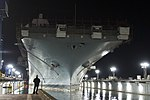 The amphibious assault ship USS Essex (LHD 2) enters a dry dock at the National Steel and Shipbuilding Company in San Diego, Calif., on March 24, 2013 130324-N-ZC343-097.jpg