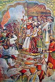 The coronation of Shri Shivaji