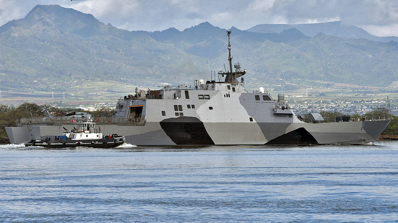 File:The littoral combat ship USS Freedom (LCS 1) arrives at Joint Base Pearl Harbor-Hickam, Hawaii for a scheduled port visit during a deployment to the Asia Pacific region, March 11, 2013 130311-N-WF272-021.jpg