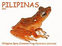 Theloderma spinosum 2011 stamp of the Philippines 2.jpg