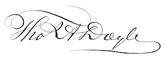 Thomas A. Doyle (mayor) - Image: Thomas A. Doyle signature